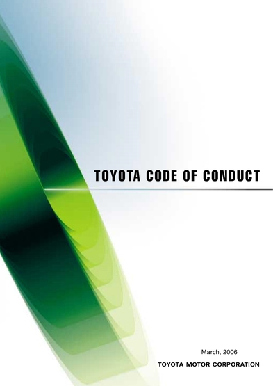 Toyota Motor Corporation Global Website 75 Years Of Cur Conditions Code Conduct