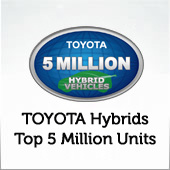 TOYOTA hybrid 5 million