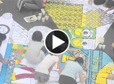 Making Infiorata-style flower carpets