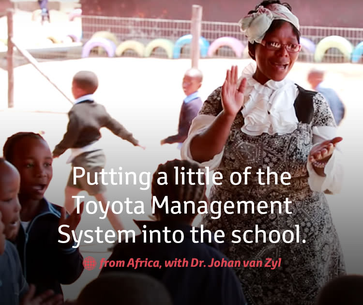 Putting a little of the Toyota Management System into the school.