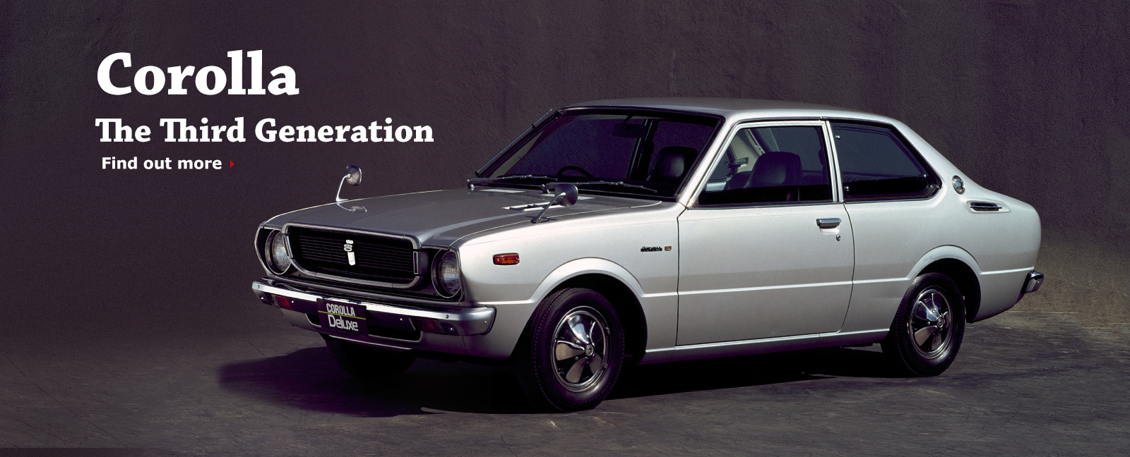 Corolla The Third Generation Find out more