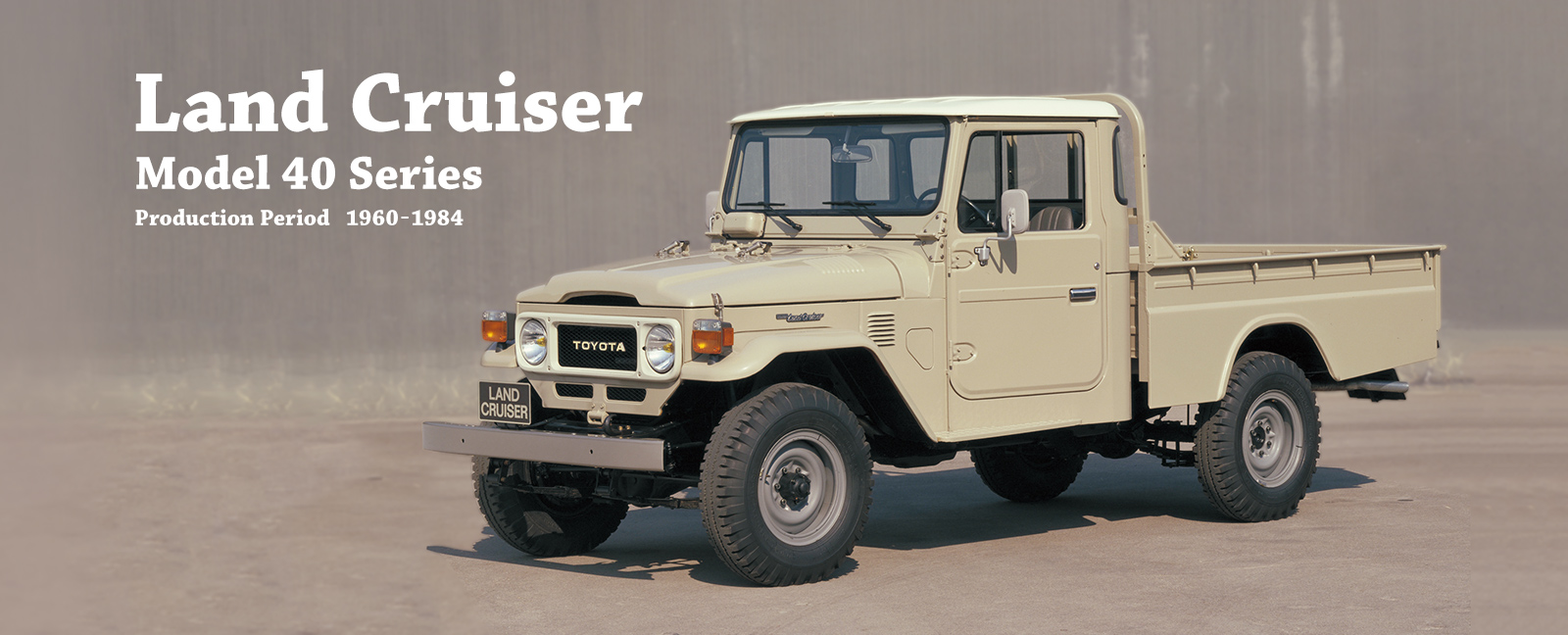 Vehicle heritage land cruiser model 40 series