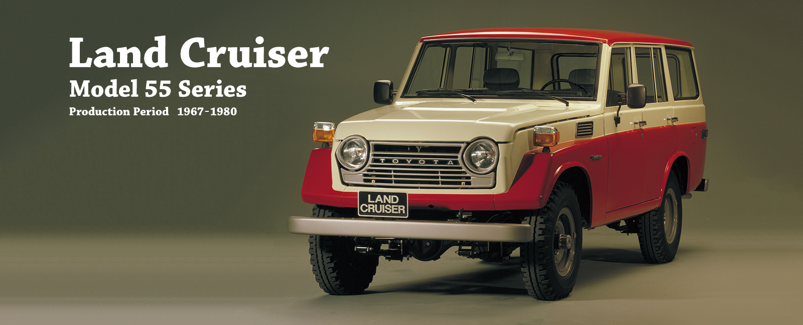 Vehicle heritage land cruiser model 55 series