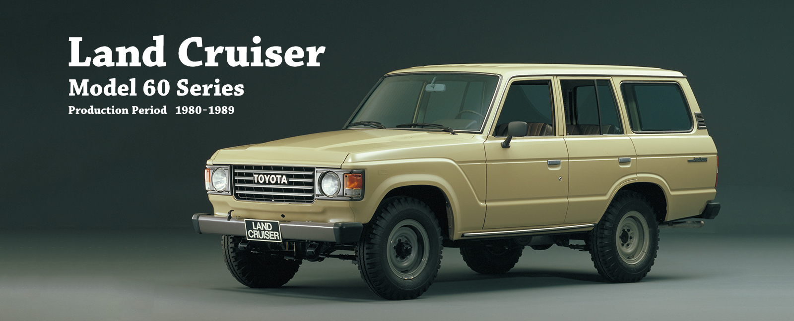 Vehicle heritage land cruiser model 60 series