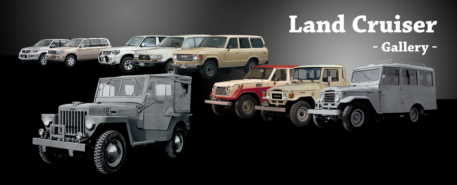 Vehicle Heritage, Land Cruiser, Gallery
